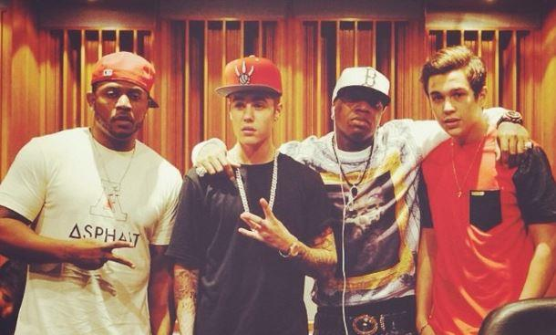 Justin Bieber e Austin Mahone in studio insieme