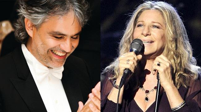 Andrea Bocelli e Barbra Streisand