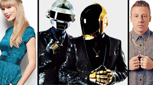 Taylor Swift, Macklemore e i Daft Punk