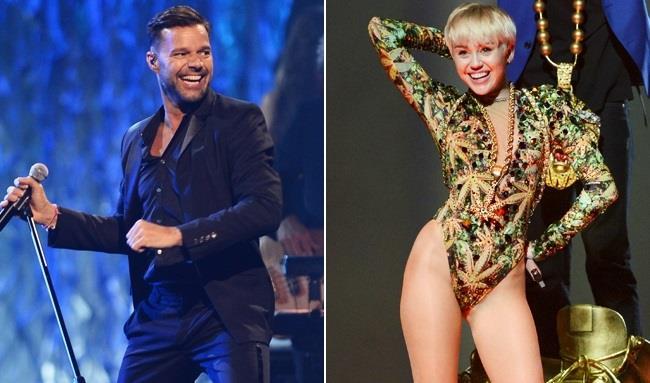 Miley Cyrus e Ricky Martin