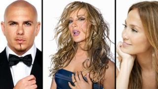 Jennifer Lopez, Claudia Leitte e Pittbull cantano insieme