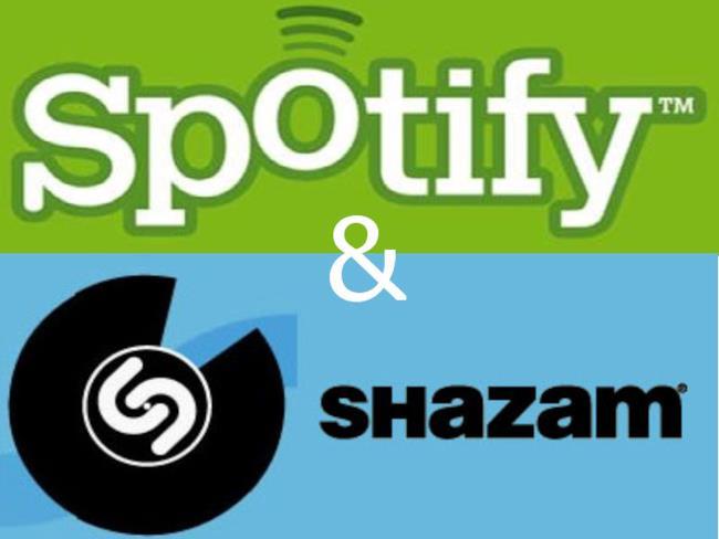 I loghi di Spotify e Shazam