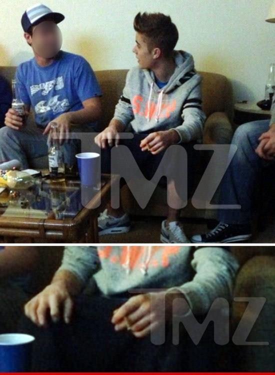 Justin Bieber si fa le canne
