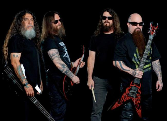 La band Slayer nel 2015
