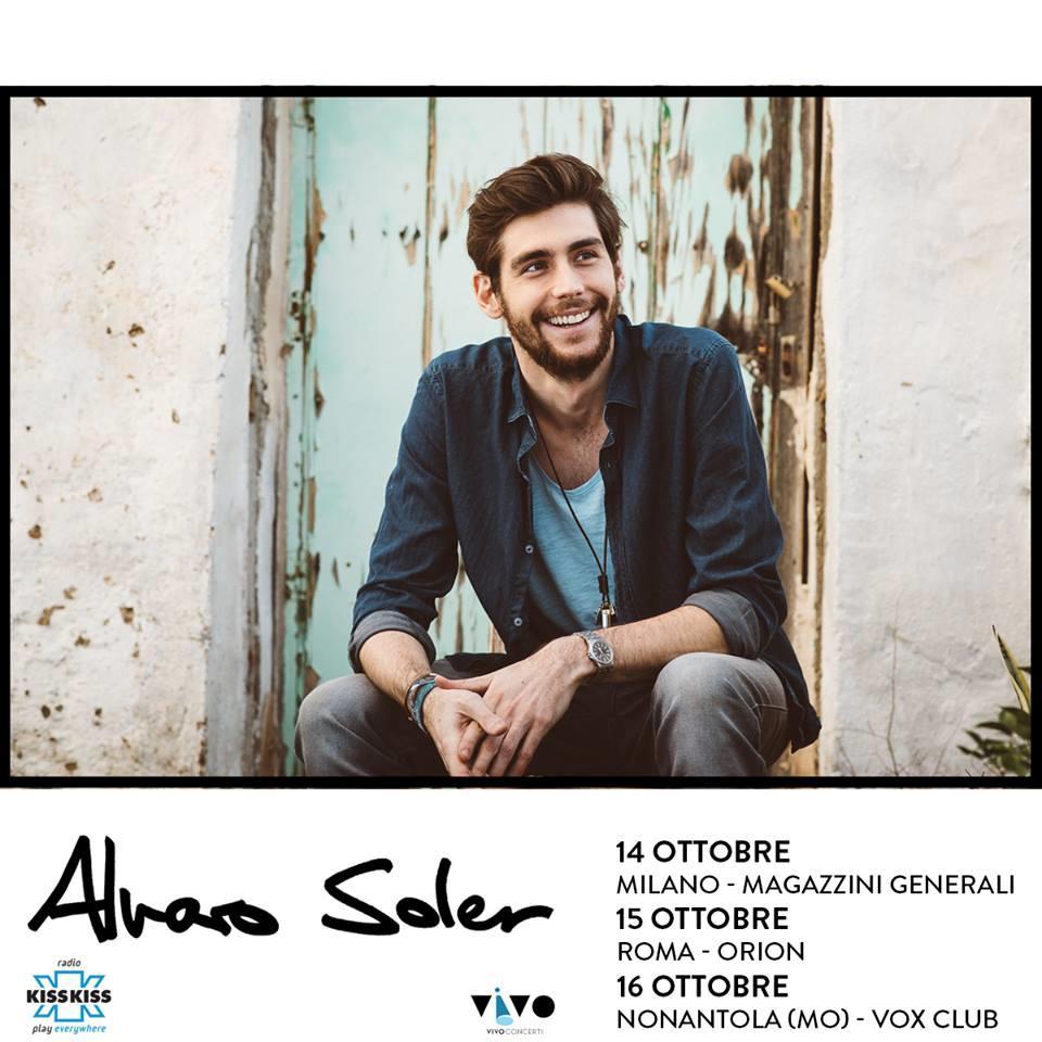 Milano, Roma e Modena sono le date del primo tour italiano di Alvaro Soler