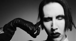 Marilyn Manson foto in bianco e nero