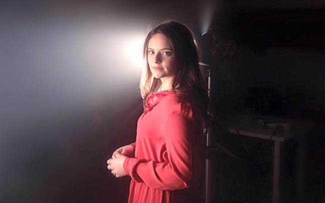Francesca Michielin sul set del singolo 2015 L'amore esiste