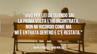 Andrea Bocelli: le migliori frasi delle canzoni