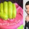 Immagine doppia con Zayn e una torta fluorescente per festeggiare i suoi 21 anni