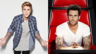 Justin Bieber e Adam Levine