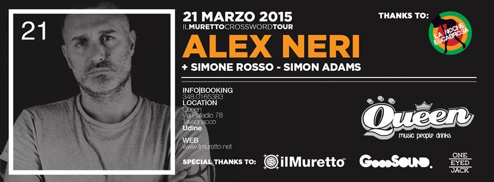 Alex Neri sarà ospite de il Muretto