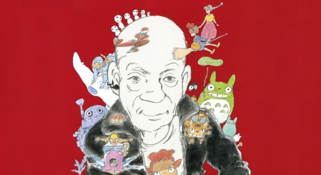 Joe Hisaishi con i personaggi dello studio Ghibli