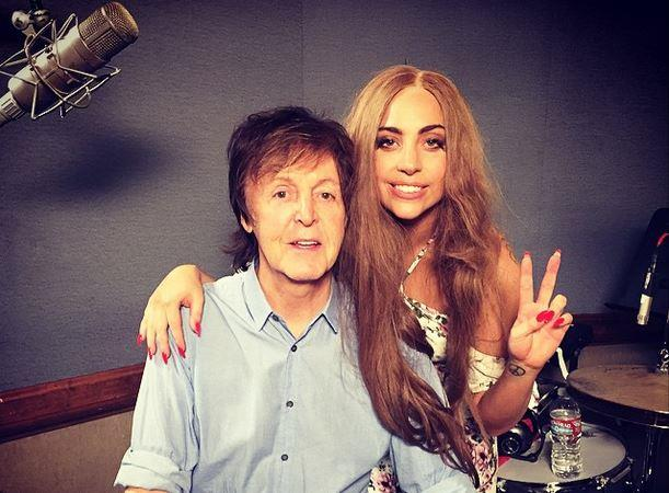 Lady Gaga con Paul McCartney