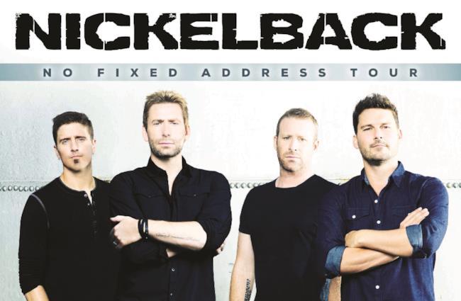 Locandina Nickelback No Fixed Address Tour 2015
