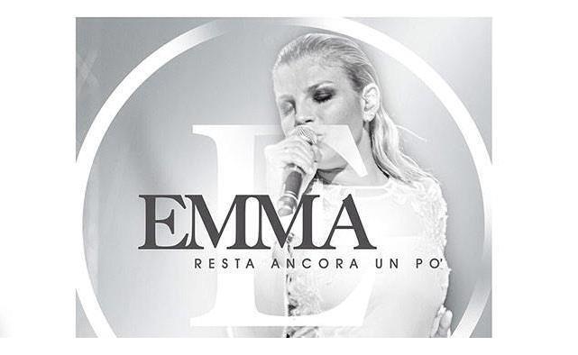 Emma Marrone sulla copertina del singolo Resta ancora un po'