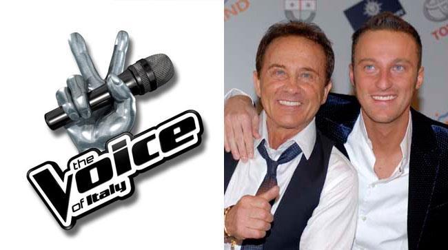 Il logo di The Voice Of Italy, Roby e Francesco Facchinetti