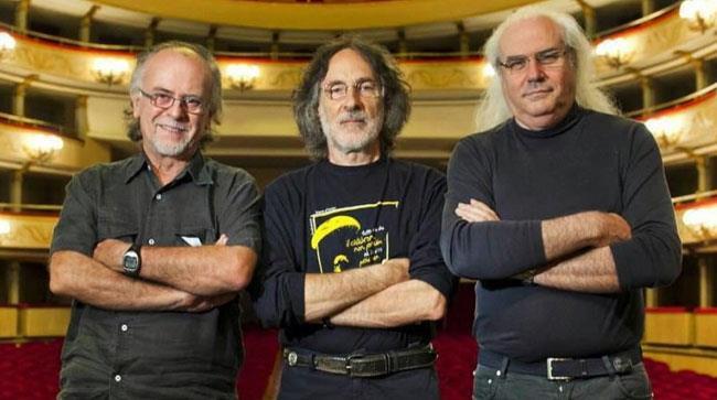 Franz Di Cioccio, Patrick Djivas e Franco Mussida