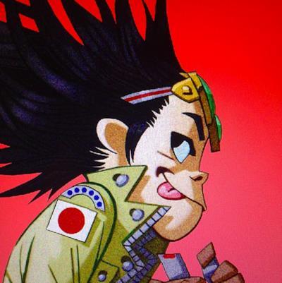 Uno dei nuovi disegni di Noodle dei Gorillaz