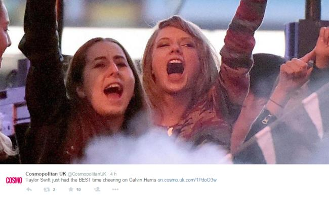 Taylor Swift e le Haim durante il dj set di Calvin Harris al Wango Tango
