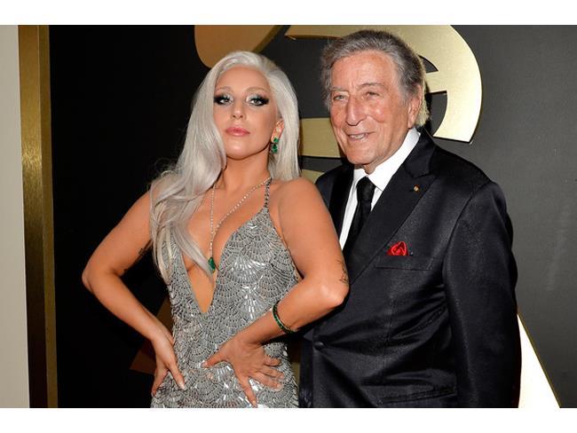 Lady Gaga e Tony Bennett ai Grammy 2015