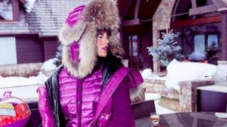Rihanna festeggia 26 anni tra le nevi di Aspen