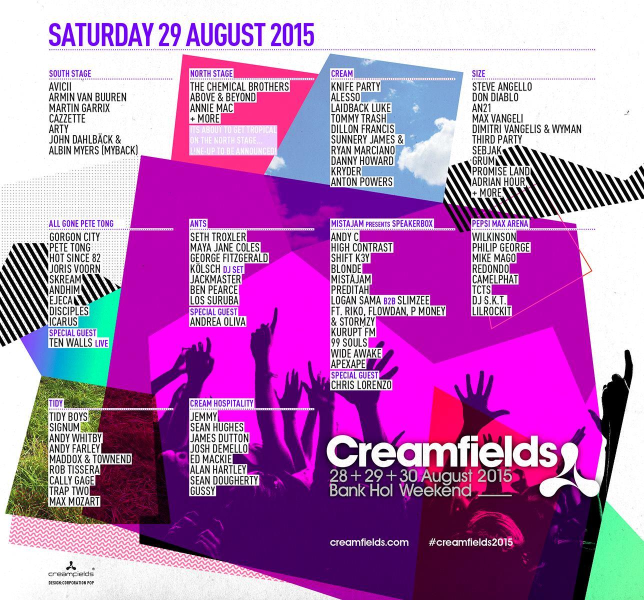 Creamfields 2015 Saturday