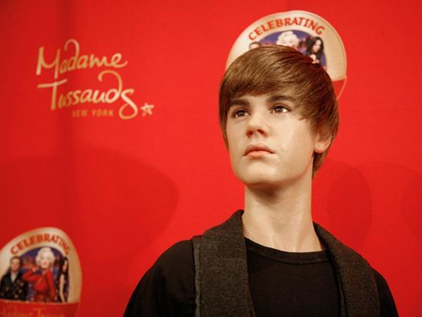 Justin Bieber statua di cera