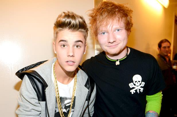 Justin Bieber in foto con Ed Sheeran