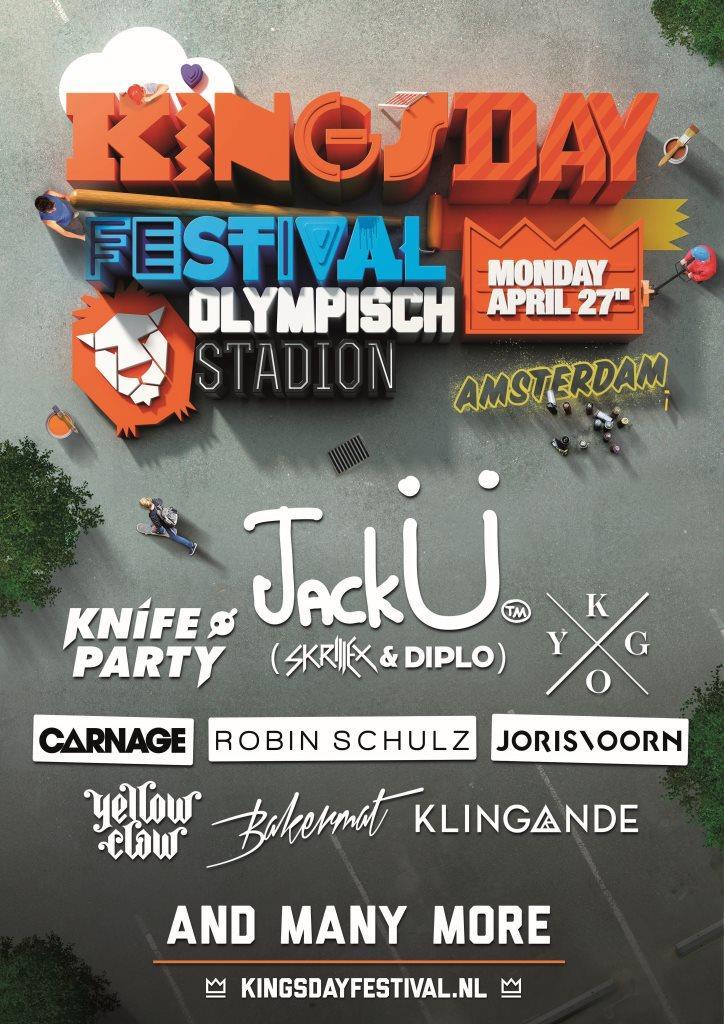 La line up completa del Kingsday Festival