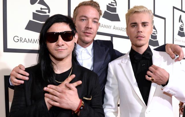 Skrillex, Diplo e Justin Bieber ai 58esimi Grammy Awards