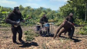 I Coldplay nel video di Adventure of a Lifetime
