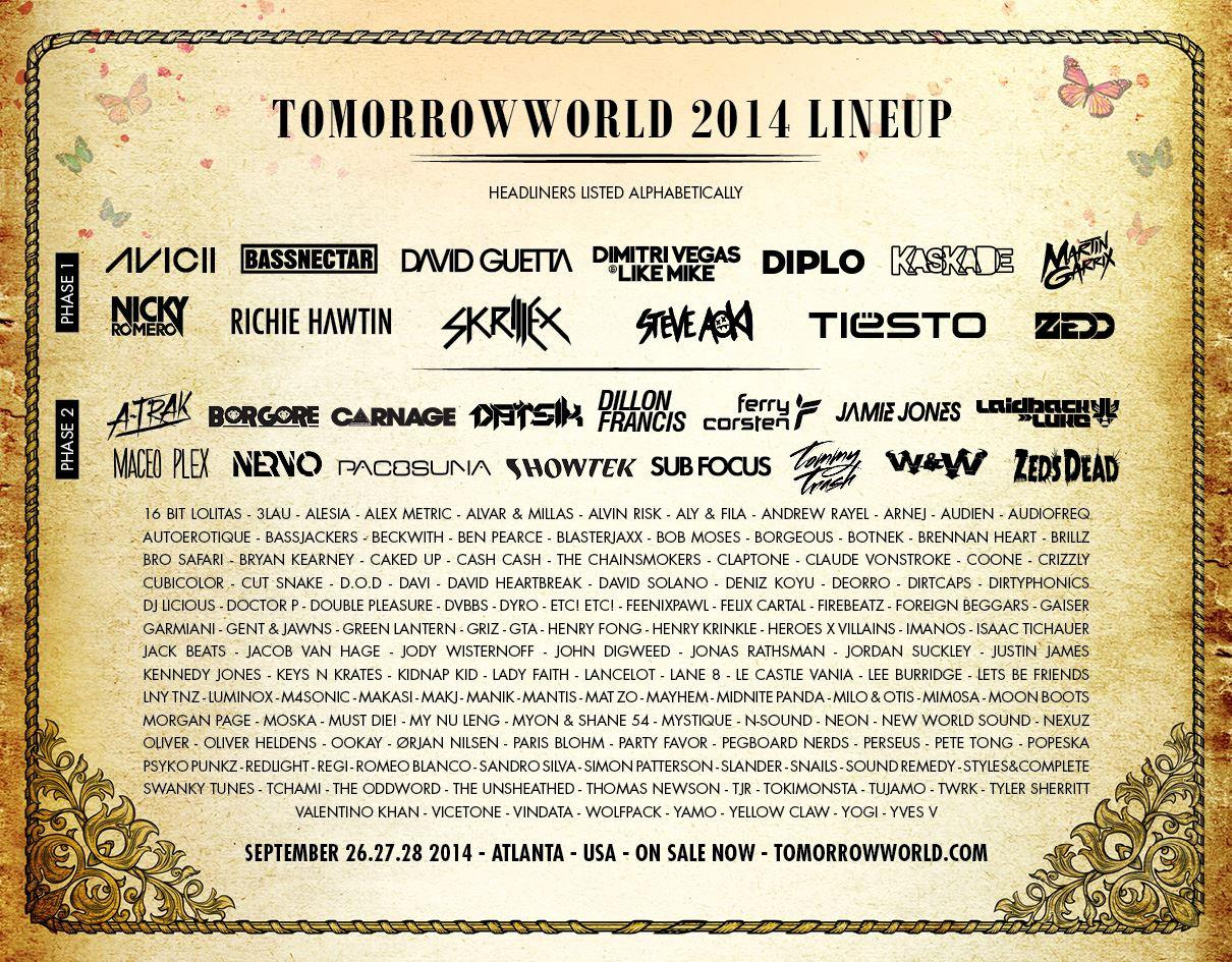 TomorrowWorld 2014 lineup