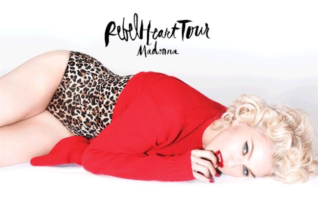 Madonna Rebel Heart Tour 2015 locandina