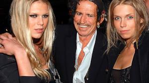 Keith Richards con le figlie Theodora e Alexandra