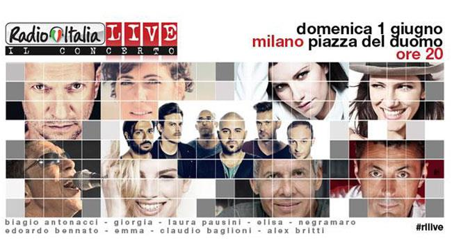 La locandina del RadioItaliaLive 2014