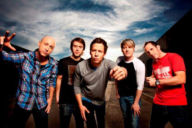 I 5 membri della band canadese Simple Plan