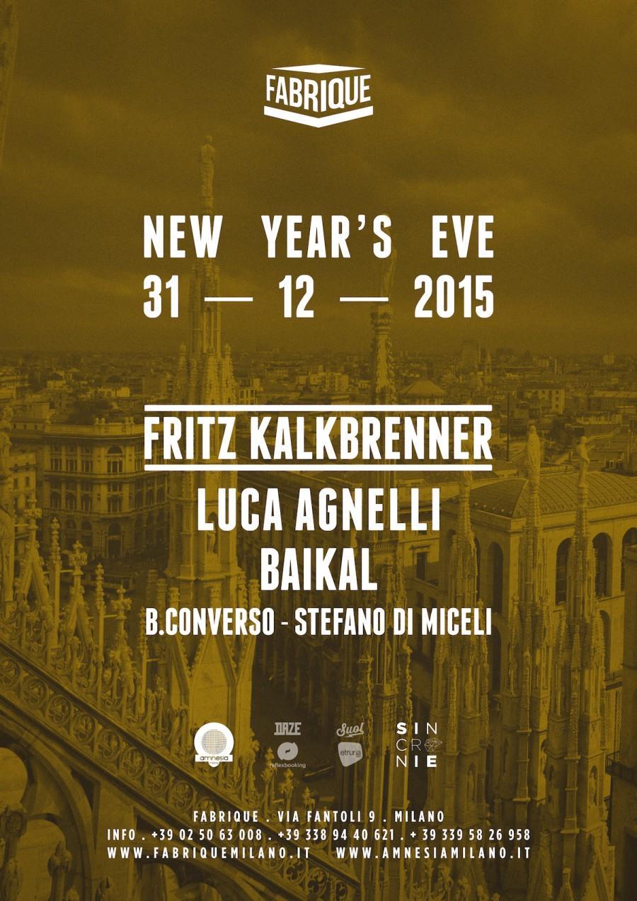 Fritz Kalkbrenner è il dj del Capodanno 2016 al Fabrique di Milano