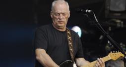 David Gilmour con la chitarra sul palco