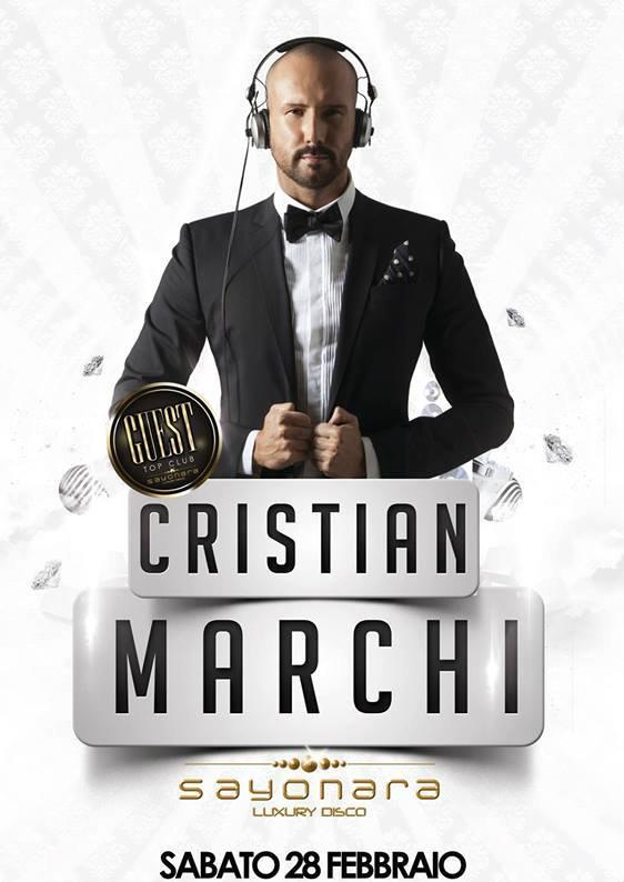 Christian Marchi sarà ospite del Sayonara Luxury Club