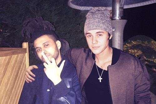 The Weeknd e Justin Bieber in foto insieme