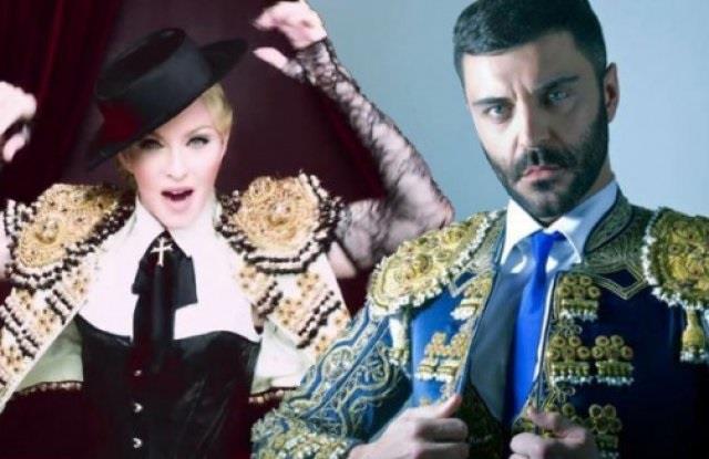 Madonna e Frank Romero vestiti da torero