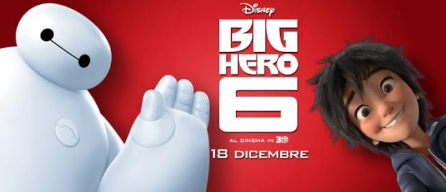 Poster Big Hero 6, il film Disney Natale 2014