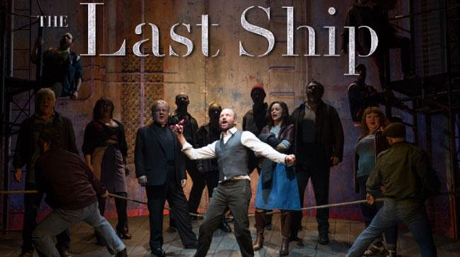 Sting e il cast di The Last Ship durante il musical