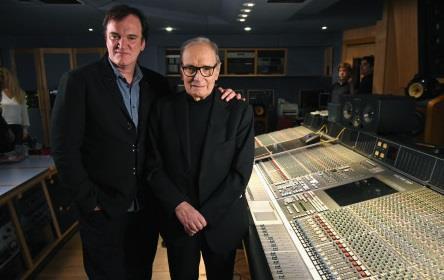 Ennio Morricone insieme a Tarantino