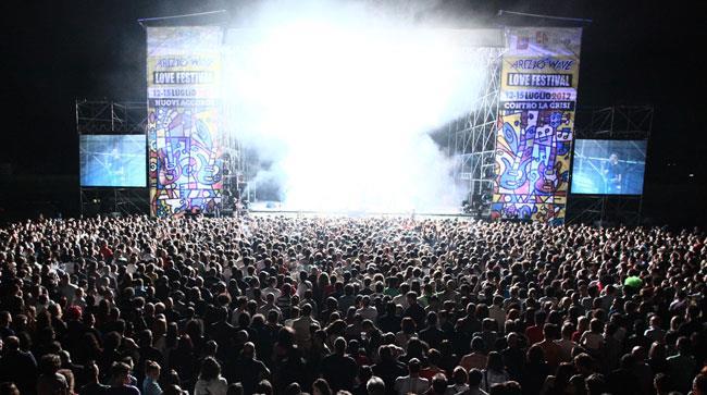 Il palco dell'Arezzo Wave