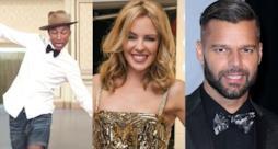 Pharrell Williams, Kylie Minogue e Ricky martin