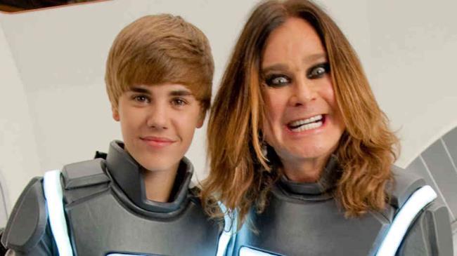 Justin Bieber e Ozzy Osbourne insieme sul set di una pubblicità