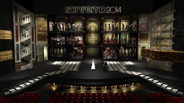 Bozzetto scenografia Sanremo 2014