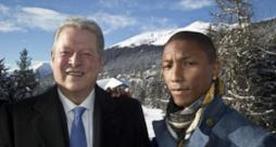 Pharrell Williams e Al Gore fotografati a Davos
