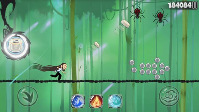 Steve Aoki lancia torte nel videogioco Speedy Ninja